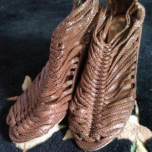 Jeffrey Campbell Handmade Ibiza zast Ankle Boots.